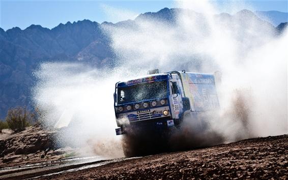 Wallpaper Red Bull KAMAZ truck
