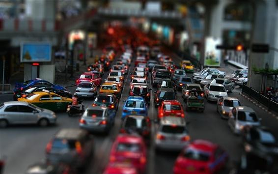 Wallpaper Street car traffic jam