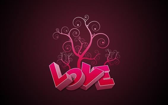 Papéis de Parede 3D rosa Amor