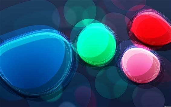 Wallpaper Abstract rainbow circles