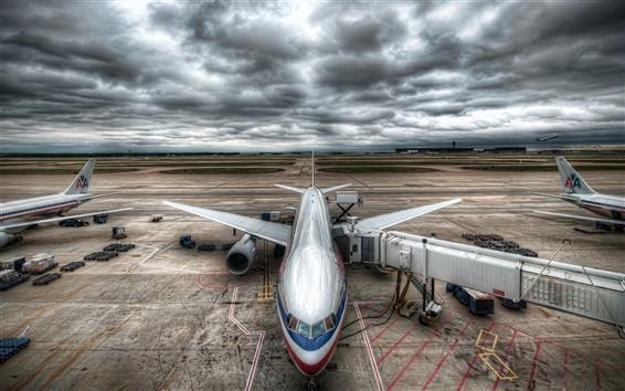 Обои Гражданский аэропорт самолеты