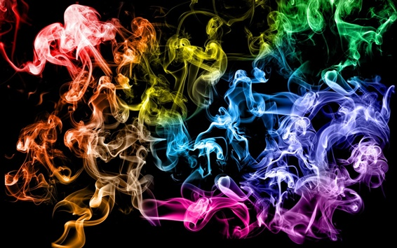 Wallpaper Colored smoke rings
