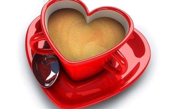 배경 화면 사랑의 컵