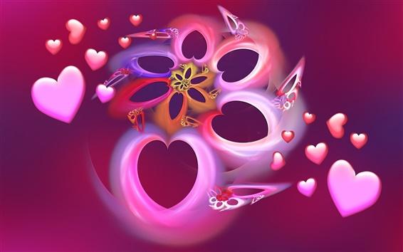 壁纸 梦幻爱的心形