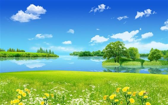 Wallpaper Dream of summer scenery