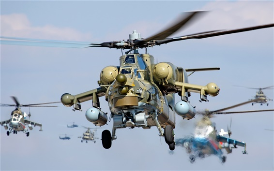 Wallpaper Flying military helicopters