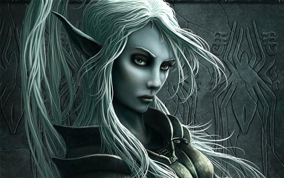 Wallpaper Grey Elf Girl