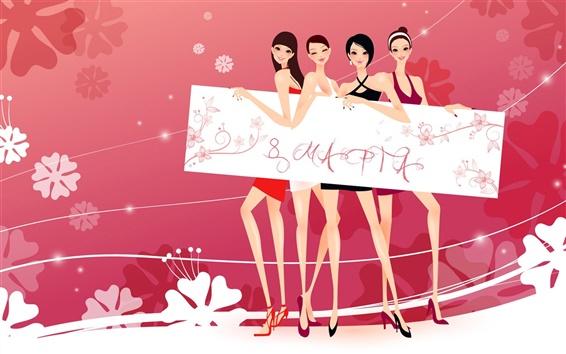 Wallpaper Happy Women's Day March 8