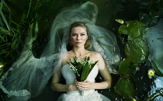 Wallpaper Kirsten Dunst in Melancholia 2011