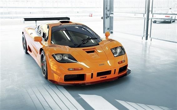 壁紙 マクラーレン車オレンジ