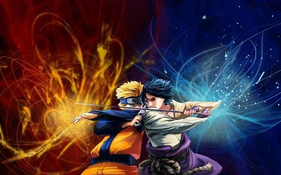 Fond d'écran Naruto vs Sasuke