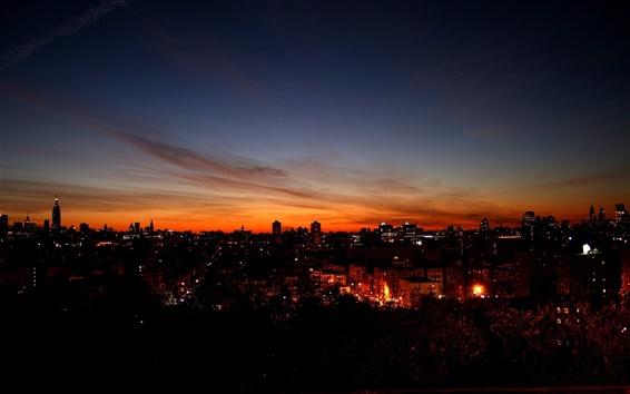 Papéis de Parede Noite céu da cidade