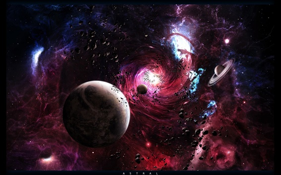 Wallpaper Planetary space vortex