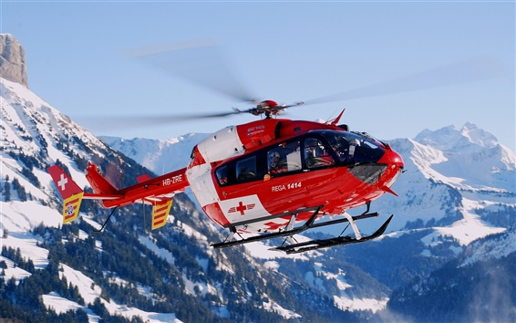 Wallpaper Switzerland mountain helicopter