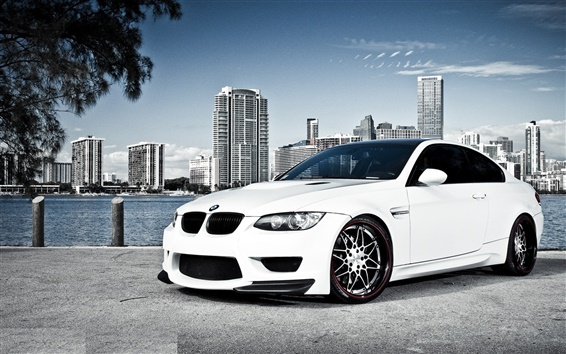 White BMW car Wallpaper Preview