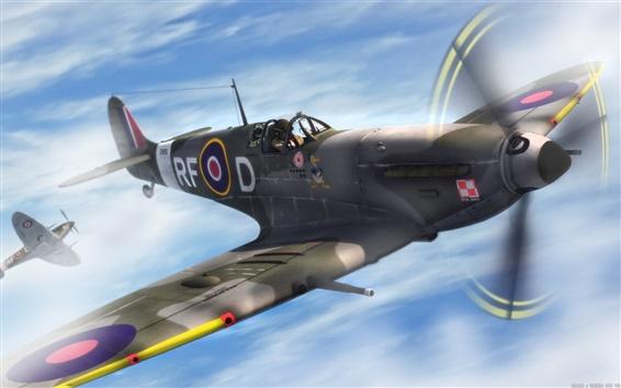 Wallpaper Aircraft patrol the sky