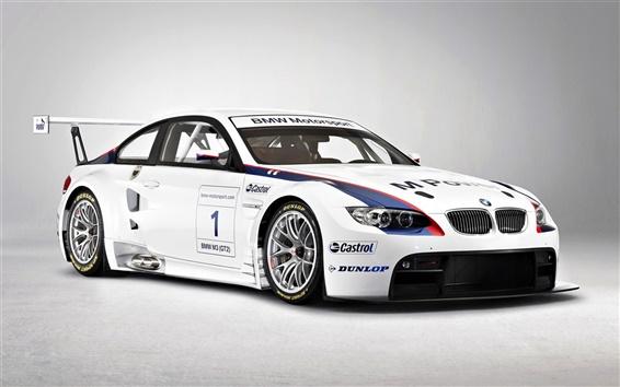 Обои BMW Motorsport белый цвет