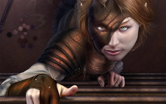 Wallpaper Bat girl green eyes