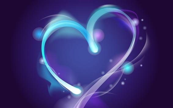 Wallpaper Blue aura of love