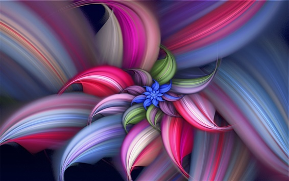 Wallpaper Colorful abstract beautiful flower