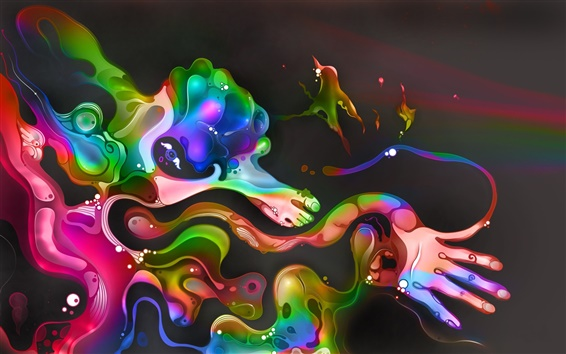 Wallpaper Colorful abstract paintings