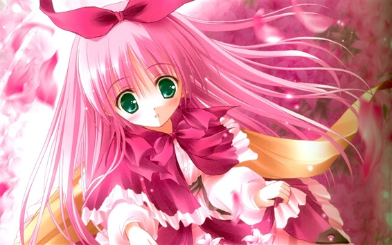 Fond d'écran Rose mignon anime girl cheveux
