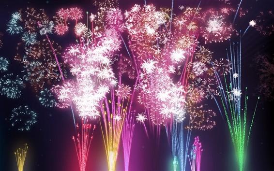 배경 화면 축제 불꽃놀이