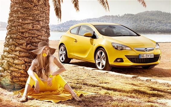 배경 화면 Opel Astra GTC 2011