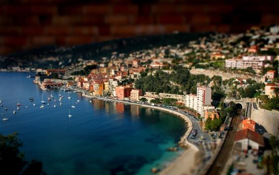 Wallpaper Port miniature landscape photography