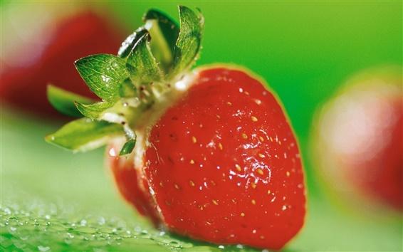Wallpaper Red strawberry macro