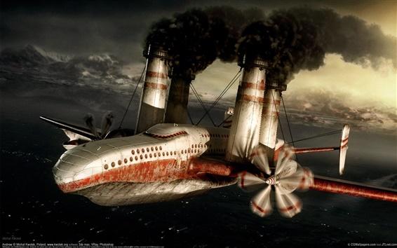 배경 화면 화재 튜브 항공기