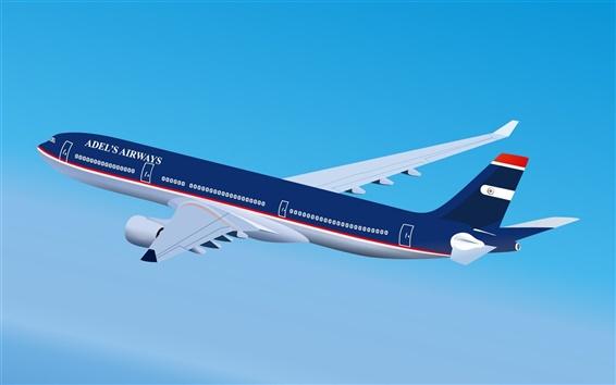 Обои Адель Airways самолет