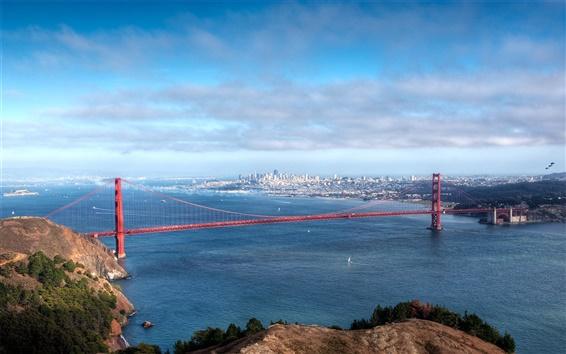 Fond d'écran Villes d'Amérique du pont