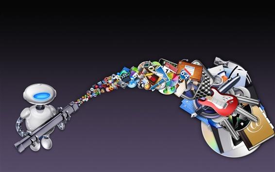Papéis de Parede Maçã robô e ícone