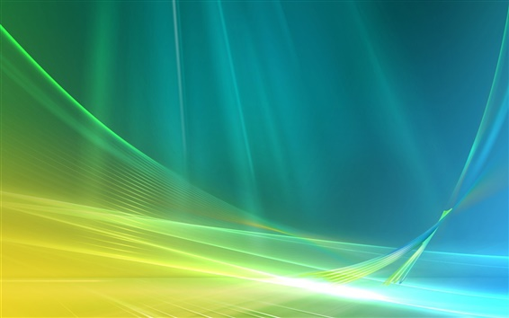 Wallpaper Blue and green abstract space curve