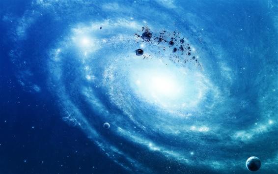 Wallpaper Blue galaxy stars