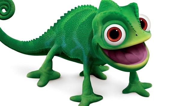 Обои Chameleon зеленый игрушка