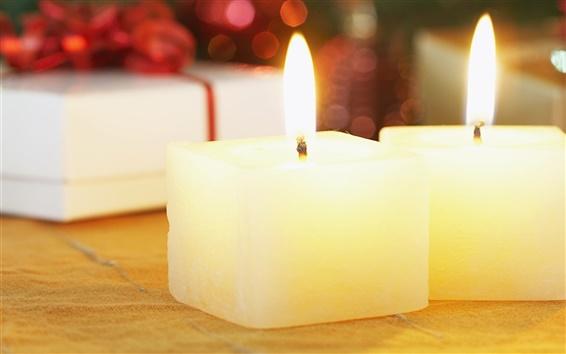 Wallpaper Christmas candles