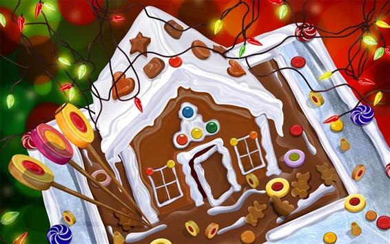 Wallpaper Christmas chocolate cake