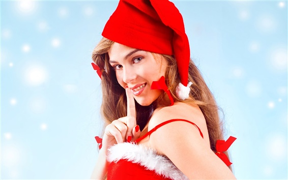 Wallpaper Christmas girl