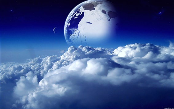 Wallpaper Clouds of the planet is beautiful