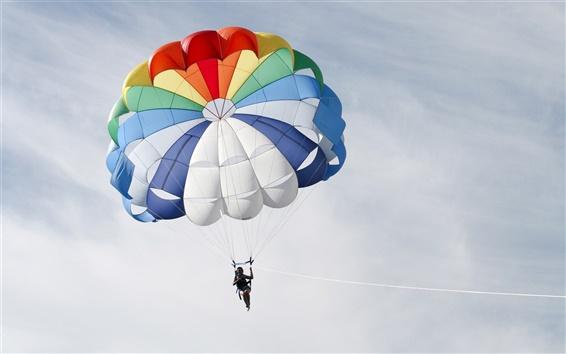 Wallpaper Colorful parachute
