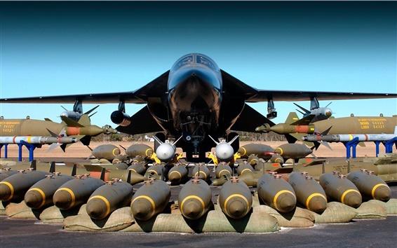 Wallpaper F-111 bomber weapons bomb plane