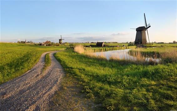 Wallpaper Farm Windmill