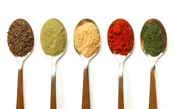 Wallpaper Five colors of seasonings
