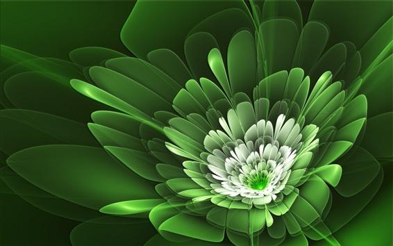 Обои Цветочные лепестки зеленые