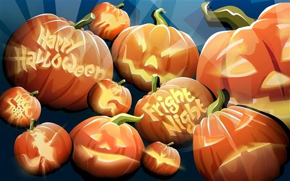 Wallpaper Halloween pumpkins