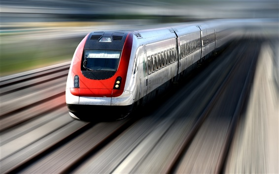 Wallpaper High-speed train