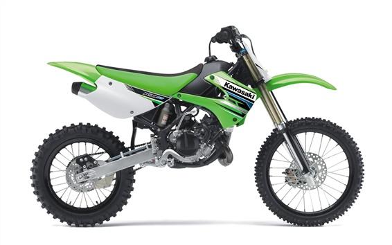 배경 화면 가와사키 motocross KX85 2012