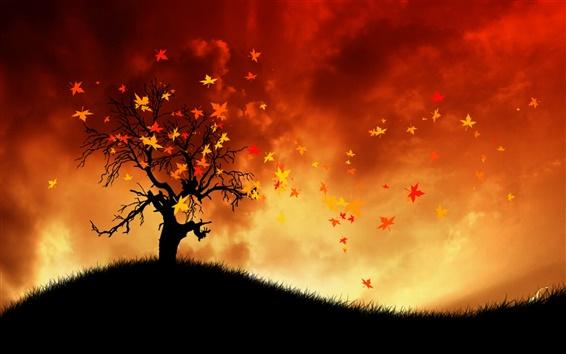 Wallpaper Painting autumn wind